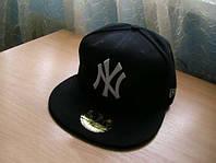 Бейсболка черная хип-хоп ny 59fifty, стильный аксессуар для поклонников хип-хопа, унисекс, кепка new york