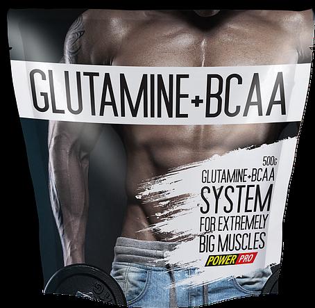 Power Pro Glutamine + BCAA 500 g, фото 2