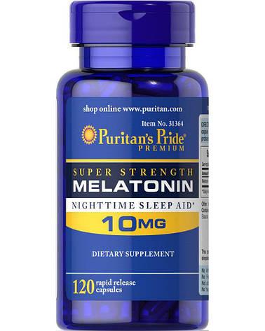 Puritan's Pride Melatonin 10 mg 120 caps, фото 2
