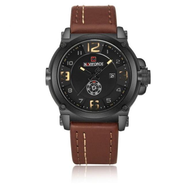 Спортивные мужские часы NAVIFORCE PLAZA BROWN 9099