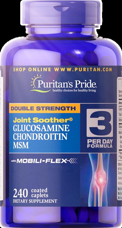 Puritan's PrideDouble Strength Glucosamine, Chondroitin & MSM 240 caplets