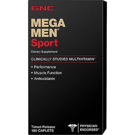 GNC Mega Men Sport 180 caplets, фото 2