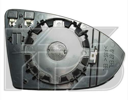 Вкладыш зеркала лев. с обогр. выпукл.  Volkswagen Golf VII 2013-