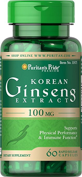 Puritan's Pride Korean Ginseng 100 mg 60 caps