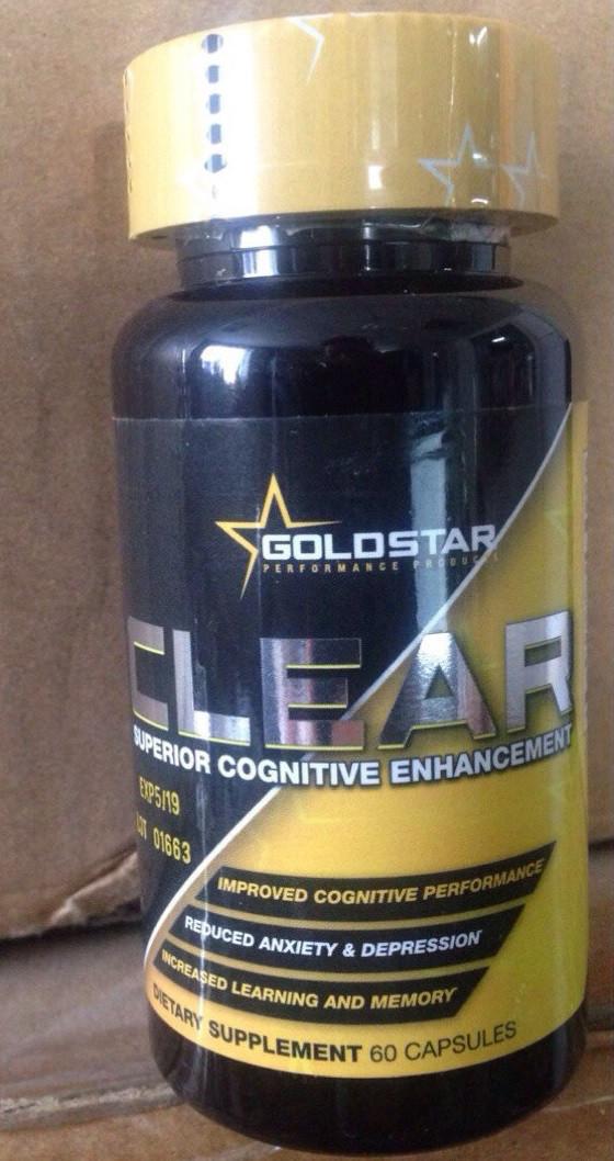 Для улучшения работы мозга GoldStar CLEAR 60 caps
