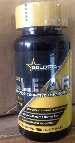 Для улучшения работы мозга GoldStar CLEAR 60 caps, фото 2