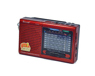 Радио портативная колонка MP3 USB Golon RX 6633 Red