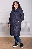 Женское демисезонное прямое пальто из букле большого размера 54, 56 размер.Жіноче пальто батал