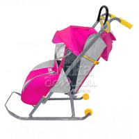 Легкие, комфортные и надежные санки-коляска «ника детям 1» с регулируемой спинкой и глубоким козырьком