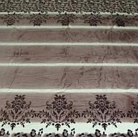 Микрофибровая простынь, покрывало Elway полуторное Полоска с орнаментом