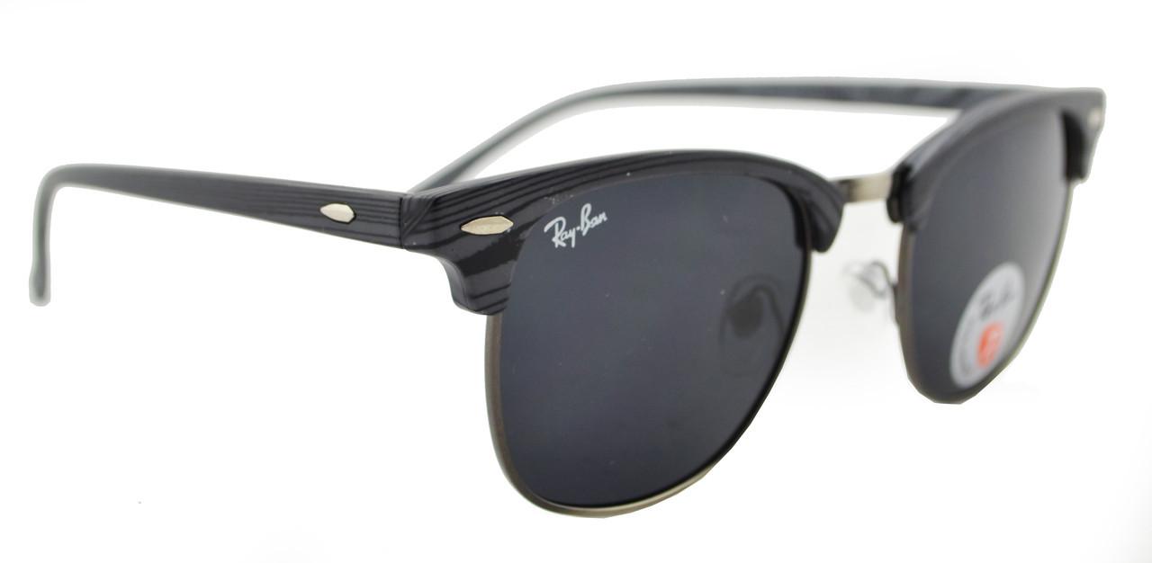Солнцезащитные очки Ray Ban Clubmaster 3016 60 14-130 C9 поляризационные,  ... 83596604980