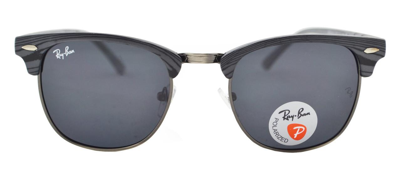 ... Солнцезащитные очки Ray Ban Clubmaster 3016 60 14-130 C9 поляризационные,  фото 3 07a1af9e444