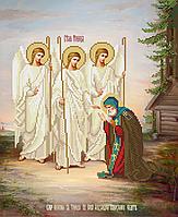 Схема для вышивки бисером Явление Святой Троицы Александру Свирскому