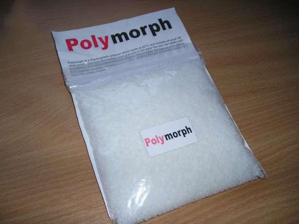 Пластик для моделирования и лепки polymorph (полиморф), плавится при 60°с, твердеет при остывании, 250 г - Интернет магазин «Наш базар» быстро, доступно и качественно в Киеве