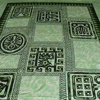 Микрофибровая простынь, покрывало Elway полуторное Египет зеленый