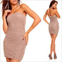 Светло-коричневое платье, короткие платья