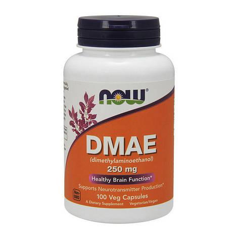 Диметиламиноэтанол для мозга и кожи в капсулах NOW DMAE 250 mg 100 veg caps, фото 2