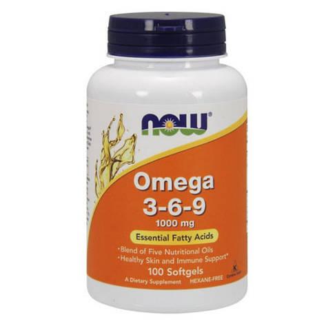 NOW Omega 3-6-9 100 softgels, фото 2