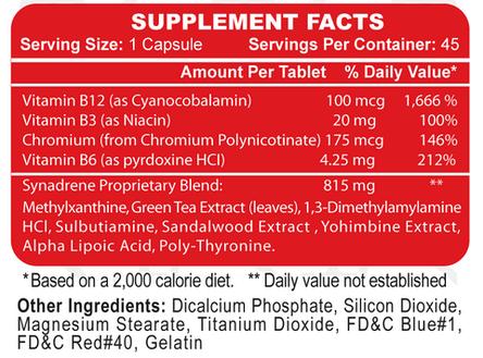 Hi-Tech Pharmaceuticals Synadrene 45 ct, фото 2