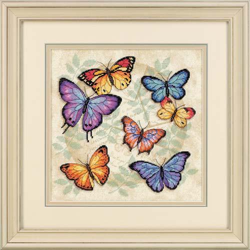 Набор для вышивания крестом Обилие бабочек/Butterfly Profusion DIMENSIONS 35145