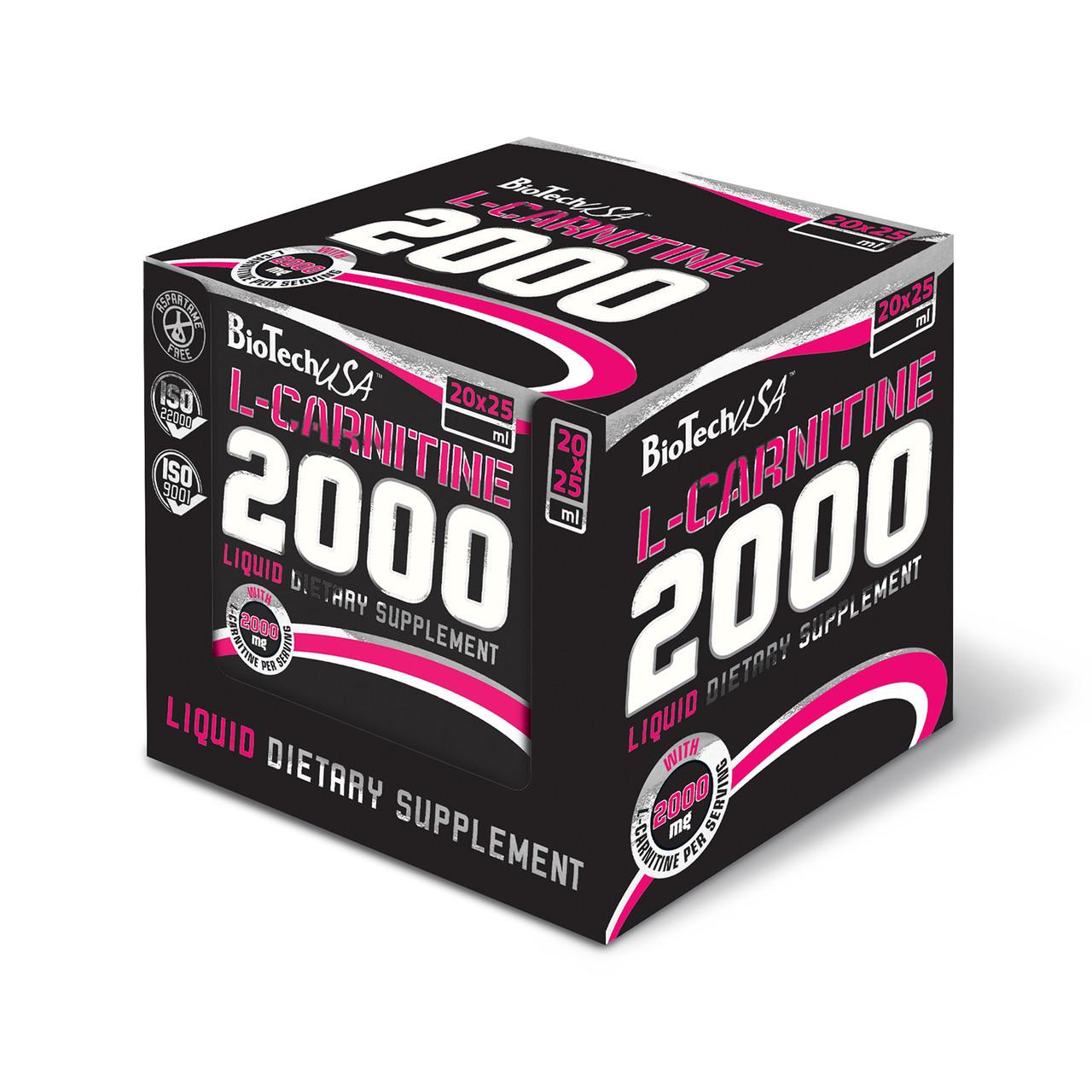 BioTech L-Carnitine Ampule 2000 20 x 25 ml