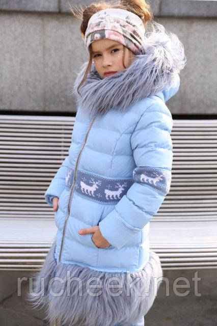 Лин - зимнее пальто для девочки Новая коллекция зима 2018/2019 Nui ver
