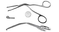 Щипцы для ввода катетера изогнутые для новорожденых 15,0 см. (МЕГИЛА)- ЛОР