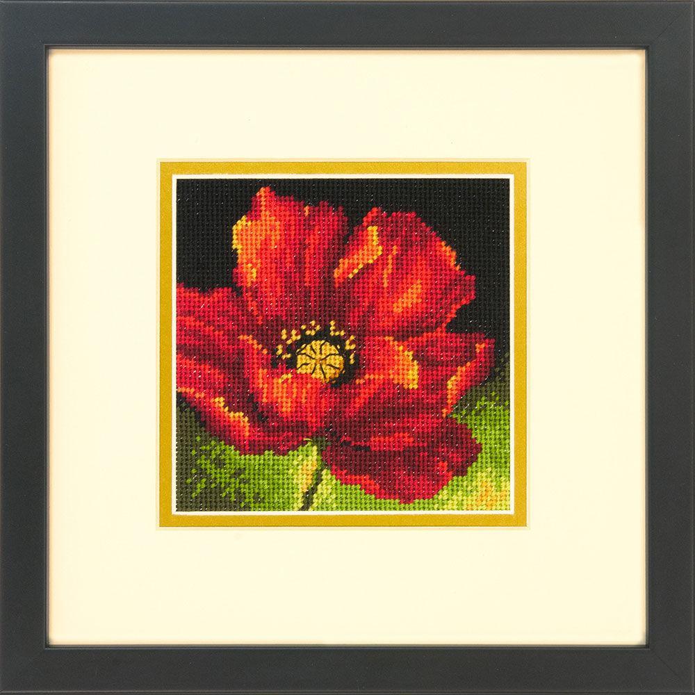 Набор для вышивания крестом Красный мак/Red Poppy DIMENSIONS 71-07246
