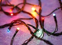 Новогодняя лампочная гирлянда 200 лампочек мульти