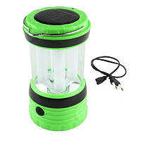 Кемпинговый фонарь, пластиковый корпус, usb-разъем для зарядки мобильника, солнечная батарея, шнур usb + 220в