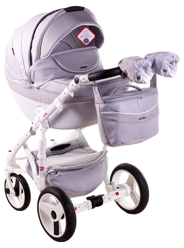Детская универсальная коляска 2 в 1 Adamex Monte Deluxe Carbon D27