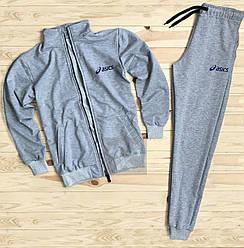 Спортивный костюм Asics серого цвета (люкс копия)