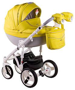 Детская универсальная коляска 2 в 1 Adamex Monte Deluxe Carbon 39SC