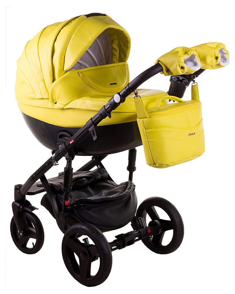 Детская универсальная коляска 2 в 1 Adamex Monte Deluxe Carbon 39SC-CZ
