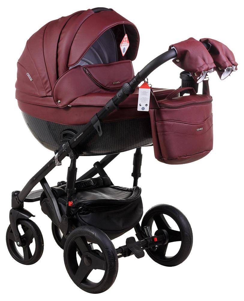 Детская универсальная коляска 2 в 1 Adamex Monte Deluxe Carbon 57SC-CZ