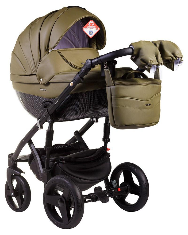 Детская универсальная коляска 2 в 1 Adamex Monte Deluxe Carbon 58S-B