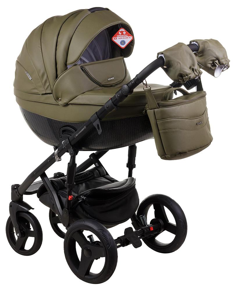 Детская универсальная коляска 2 в 1 Adamex Monte Deluxe Carbon 58S-CZ