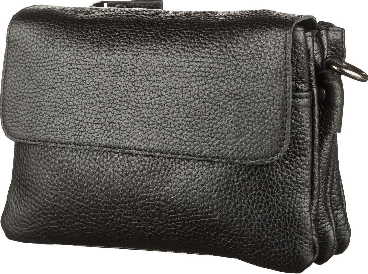 Мужская сумка SHVIGEL 11038 кожаная Черный