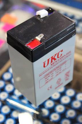 Аккумулятор(АКБ) UKC 6 вольт 4 А/ч. Для весов, радио., фото 2