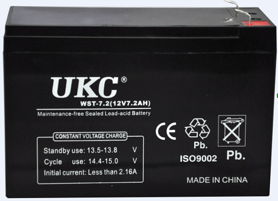 Аккумулятор (АКБ) UKC 12 вольт 7 А/ч., фото 2