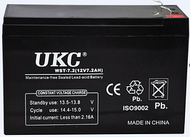 Аккумулятор (АКБ) UKC 12 вольт 7 А/ч.