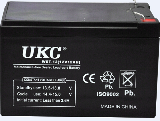 Аккумулятор (АКБ) UKC 12 вольт 9 А/ч., фото 2