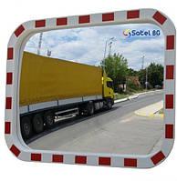 """Дорожное зеркало со светоотражателями """"SATEL"""" прямоугольное 800mm*1000mm"""