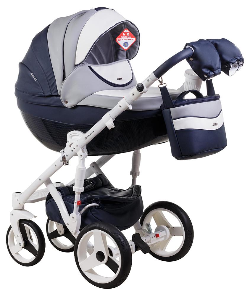 Детская универсальная коляска 2 в 1 Adamex Monte Deluxe Carbon D103