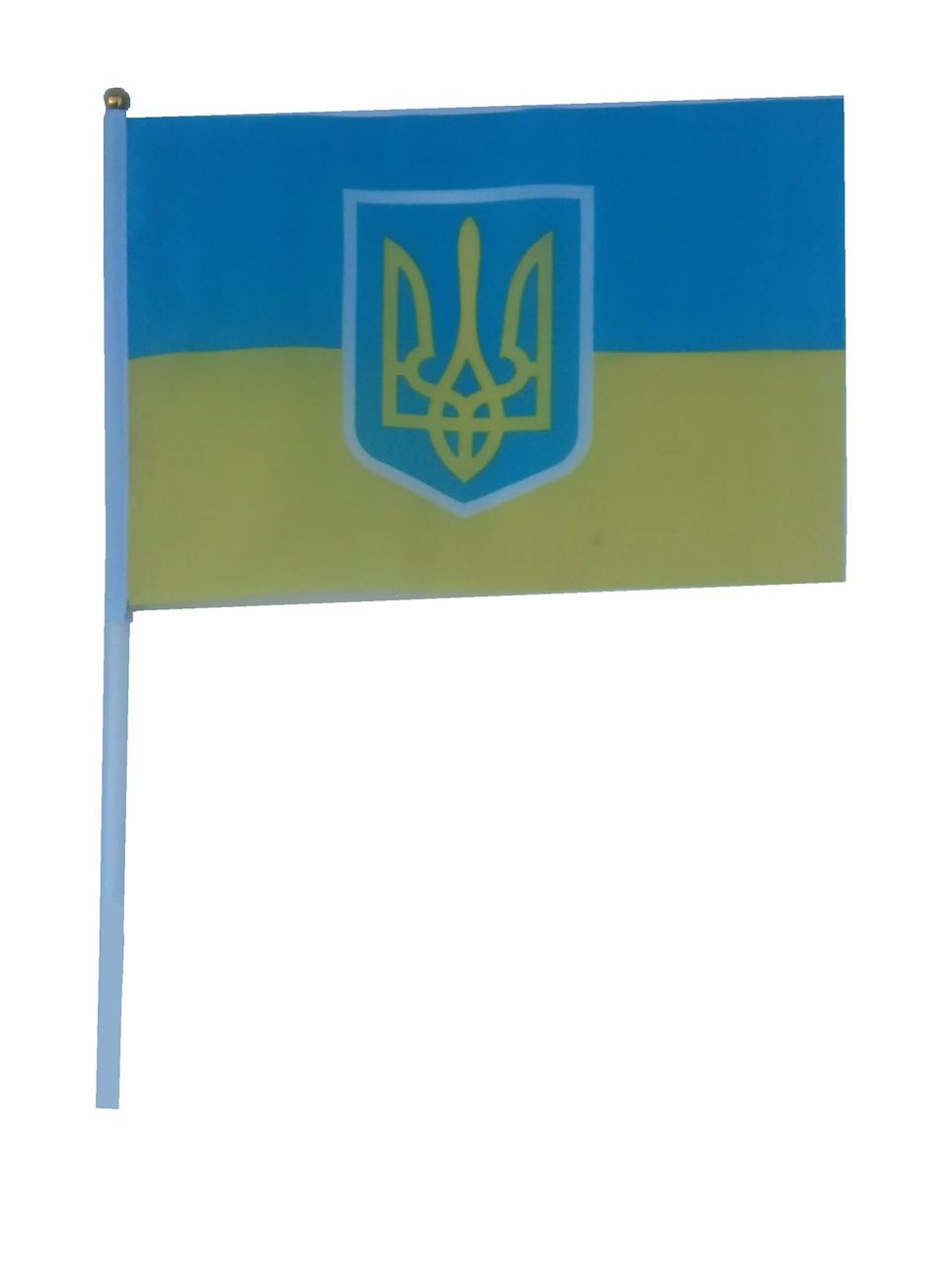Флаг Украины 14 х 20 см. Полиэстер