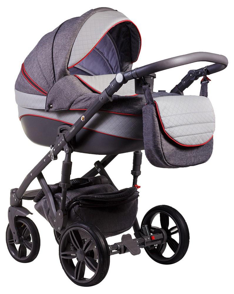 Детская универсальная коляска 2 в 1 Adamex Prince X-1