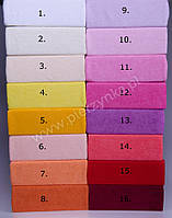 Махрова односпальне простирадло на гумці - різні кольори