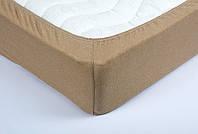 Качественная полуторная махровая простынь на резинке Frotte 180х240 см разные окрасы