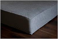 Полуторная махровая простынь на резинке 180х240 см на матрас 140х200 см разные окрасы