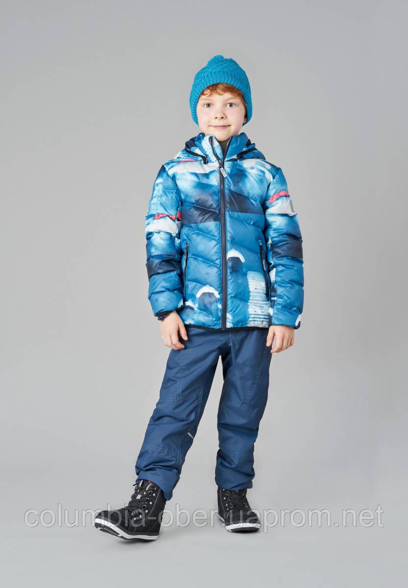 Зимняя куртка пуховик для мальчика Reima 531347-6686. Размеры 104-140.